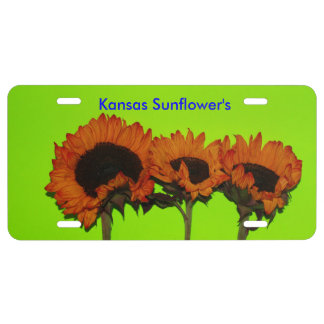 Kansas Bright Sunflower CAR TAG License Plate