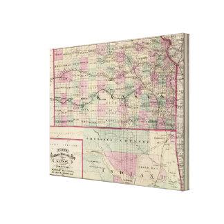 Kansas Stretched Canvas Print