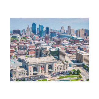 Kansas City Beautiful Skyline Canvas Print