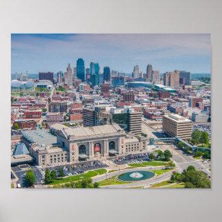 Kansas City Beautiful Skyline Poster