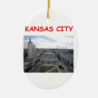 kansas city ceramic ornament
