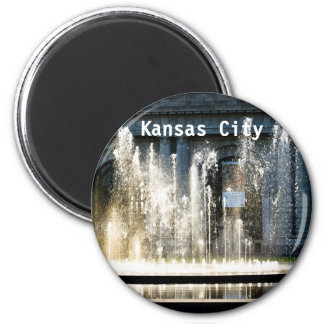 Kansas City Fountain Magnet