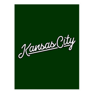 Kansas City in white Postcard