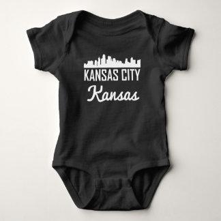 Kansas City Kansas Skyline Baby Bodysuit