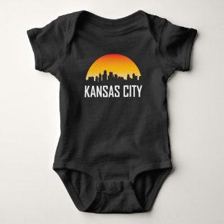 Kansas City Kansas Sunset Skyline Baby Bodysuit