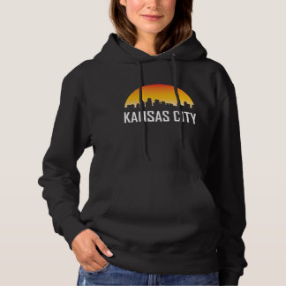 Kansas City Kansas Sunset Skyline Hoodie
