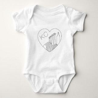 Kansas City - Minimalist Line Art Skyline Heart Baby Bodysuit