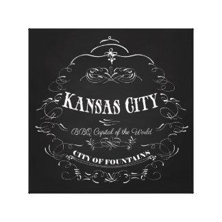 Kansas City Missouri - BBQ Capital of the World Canvas Print