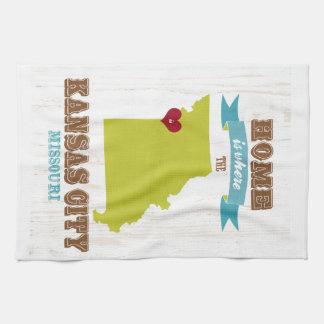 Kansas City, Missouri Map – Home Is Where Kitchen Towel