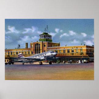 Kansas City Missouri Municipal Airport Poster