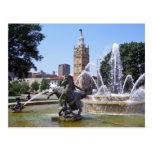 Kansas City, Missouri Plaza Fountain Postcard