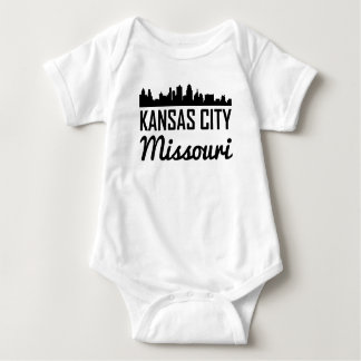 Kansas City Missouri Skyline Baby Bodysuit