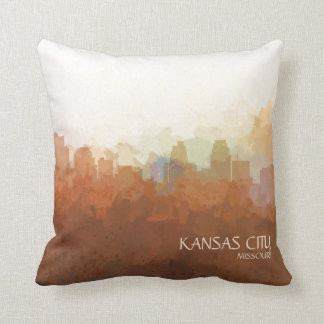 Kansas City, Missouri Skyline-In the Clouds Throw Pillow