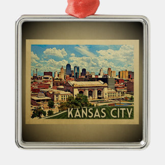 Kansas City Missouri Vintage Travel Ornament