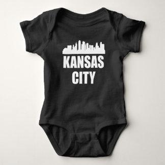 Kansas City MO Skyline Baby Bodysuit