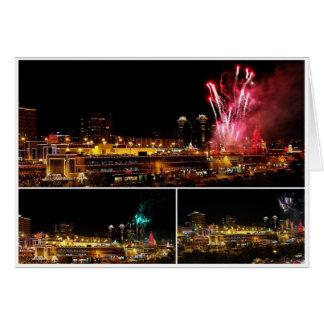 Kansas City Plaza Lights Collage, Fireworks Card