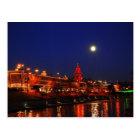 Kansas City Plaza Lights Under Full Moon Postcard