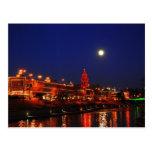 Kansas City Plaza Lights Under Full Moon Post Cards