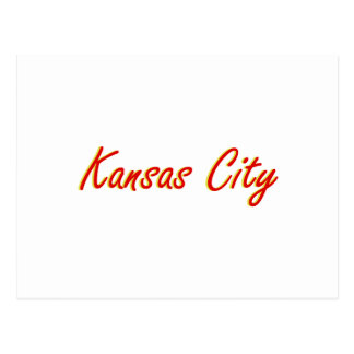 Kansas City Red and Gold Postcard