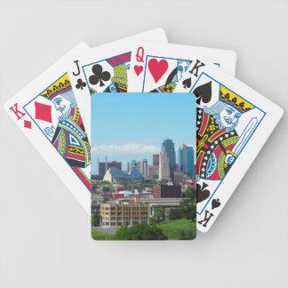 Kansas City Skyline Bicycle Playing Cards
