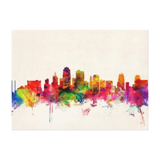 Kansas City Skyline Cityscape Canvas Print
