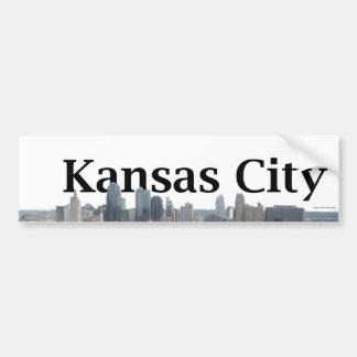 Kansas City Skyline with Kansas City in the Sky Bumper Sticker