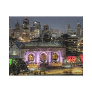 Kansas City Union Station at night Canvas Print