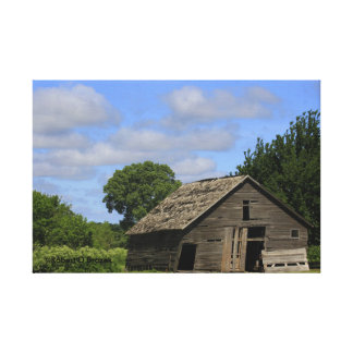 Kansas Country Barn with blue sky  Canvas