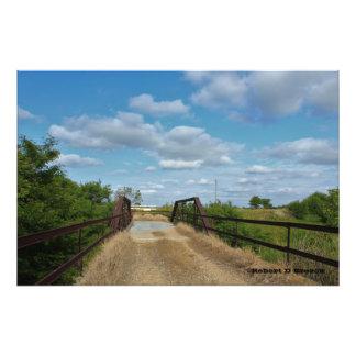 Kansas Country Bridge Photo Enlargement
