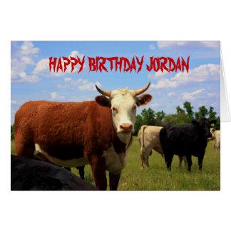 KANSAS COUNTRY COW'S Birthday Card