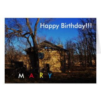 Kansas Country Farm House Birthday CARD