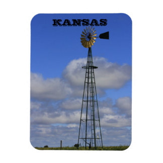 Kansas Country Windmill Square Magnet