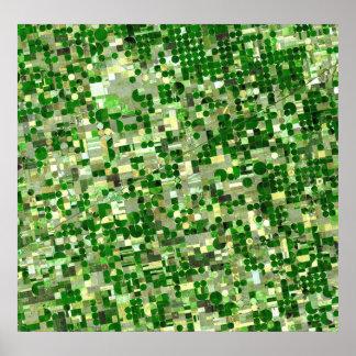 Kansas Crop Circles - Sat View Poster