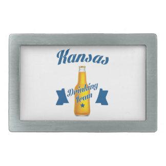 Kansas Drinking team Belt Buckle