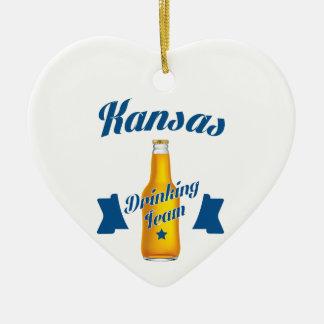 Kansas Drinking team Ceramic Ornament