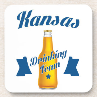 Kansas Drinking team Coaster
