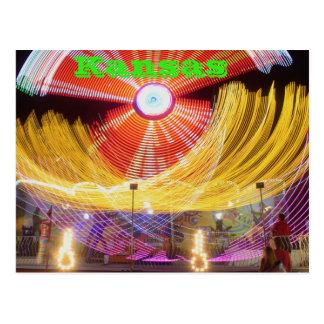 Kansas Fair ride Colors Post Card,. Postcard