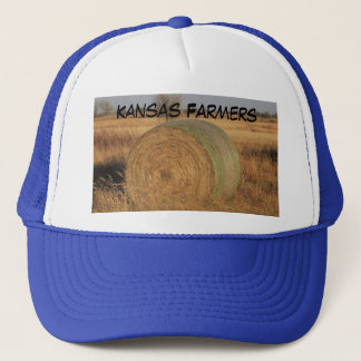 Kansas Farmers Truckers Hat with a Hay Bale