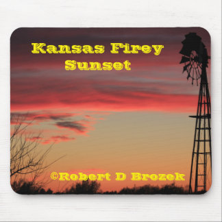 Kansas Firey Sunset Mouse Pad