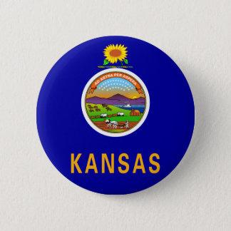 Kansas Flag Button