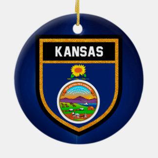 Kansas Flag Ceramic Ornament