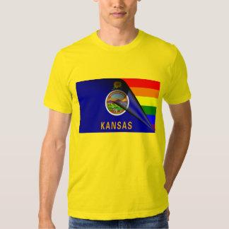 Kansas Flag Gay Pride Rainbow Shirt