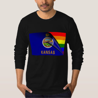 Kansas Flag Gay Pride Rainbow T-Shirt