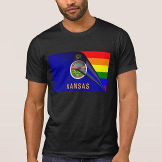 Kansas Flag Gay Pride Rainbow Tshirts