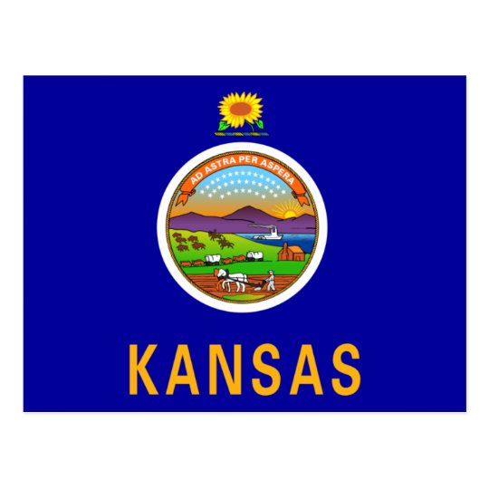Kansas Flag Postcard