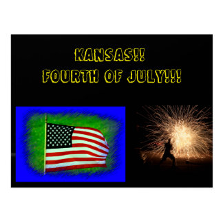 Kansas Fourth of July Post Card
