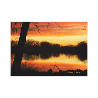 Kansas Golden Reflection Canvas