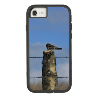 Kansas Hawk on a Lime Stone Post Phone Cover