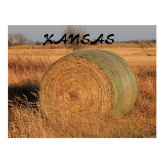 Kansas Hay Bale Post Card