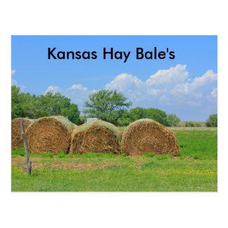 Kansas Hay Bale's Post Card